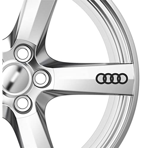 6 x AUDI Alloy Wheel Decals Stickers A3 A4 A6 Quattro Wing Mirror