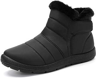 Botas de nieve cálidas para invierno, cálidas botas de invierno, con forro de piel, impermeables, gruesas, para mujeres y ...