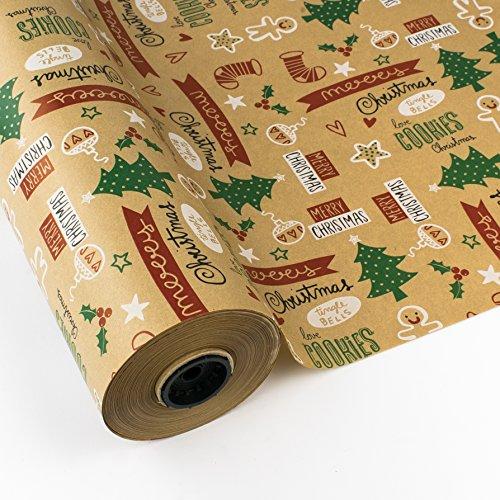 Papel Regalo Navidad Kraft Marca PAKOT S.A