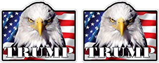 Donald Trump for President 2020 Keep America Great Bald Eagle Sticker Decal Pegatinas Aufkleber/Plus Coconut Shell Keychain Ring/Car Truck Bumper Election USA (4 Stickers 5