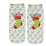 ZEELIY Unisex Holiday X-Mas Socken Weihnachtsmann Short Funny Socks Weihnachten Deko Weihnachten Geschenk