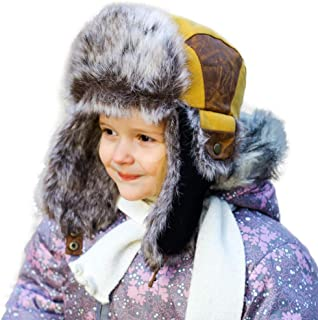 SIGGI Faux Fur Trapper Hat for Men Cotton Warm Ushanka...