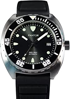 Sealion 300m Automatic 42mm Pro Dive Watch for Men with Helium Valve Rotating Bezel Sapphire Rubber Strap