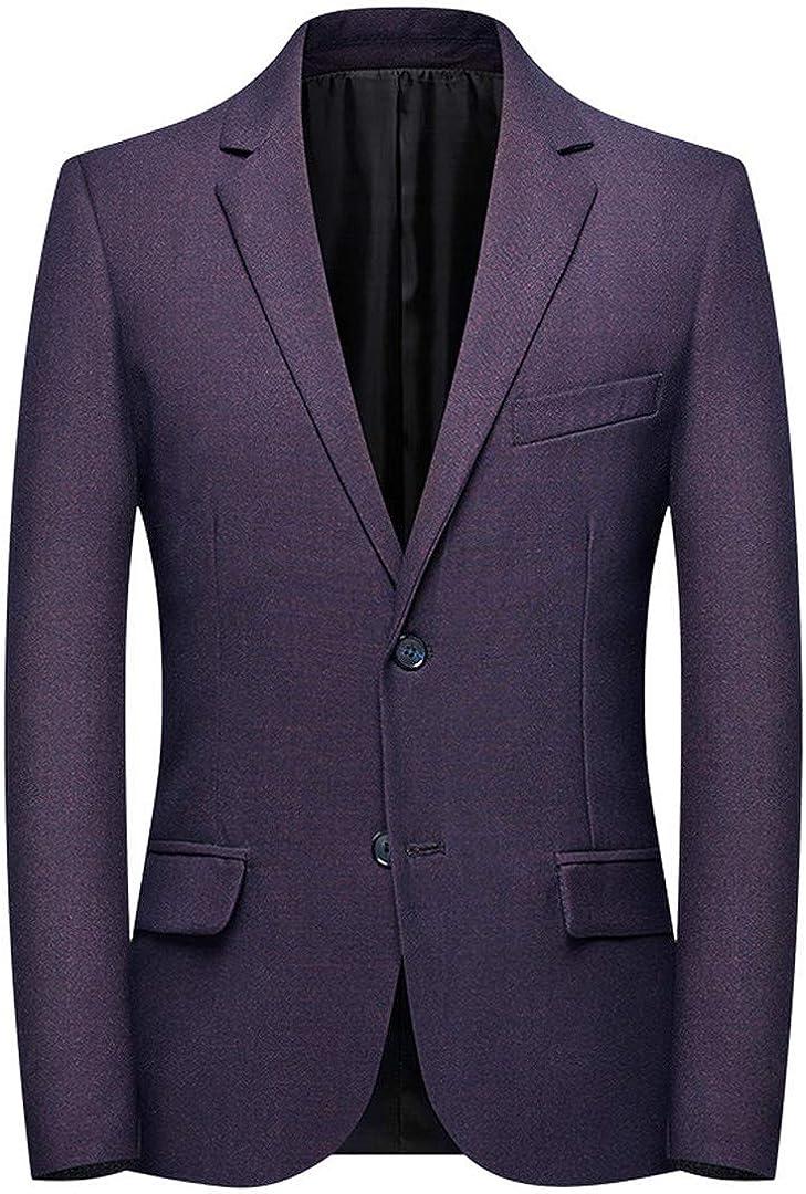 Men Slim Fit Social Blazer Solid Wedding Dress Coat Casual Plus Size Business Suit Jacket