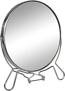 1 X//5 x Estensione da Parete Hotel Funzione Rotante Regolabile Cromato Wolltoll Specchio da Trucco Double-Face con ingrandimento da 17,8 cm di Diametro Bagno per Camera da Letto