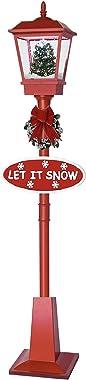 foolonli Schneiende Stand LED Laterne 180 cm Rot Weihnachtsbaum Tanne geschmückt