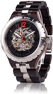 Mens Wooden Mechanical Watches Men Large Size Waterproof Watches Top Brand Luxury Timepieces