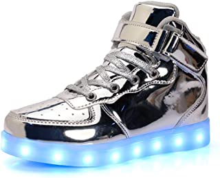 FG21ds21g 11 Colors LED Light Up Shoes Boys Girls High Top Flashing Sneakers for Christmas