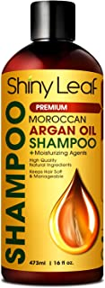 Moroccan Argan Oil Shampoo - Premium Salon Quality Sulfate Free Shampoo for Hair Loss Treatment, Thickens, Strengthens All Hair Types, Leaves Hair Smooth, Huge 16 oz (473 ml) Bottle