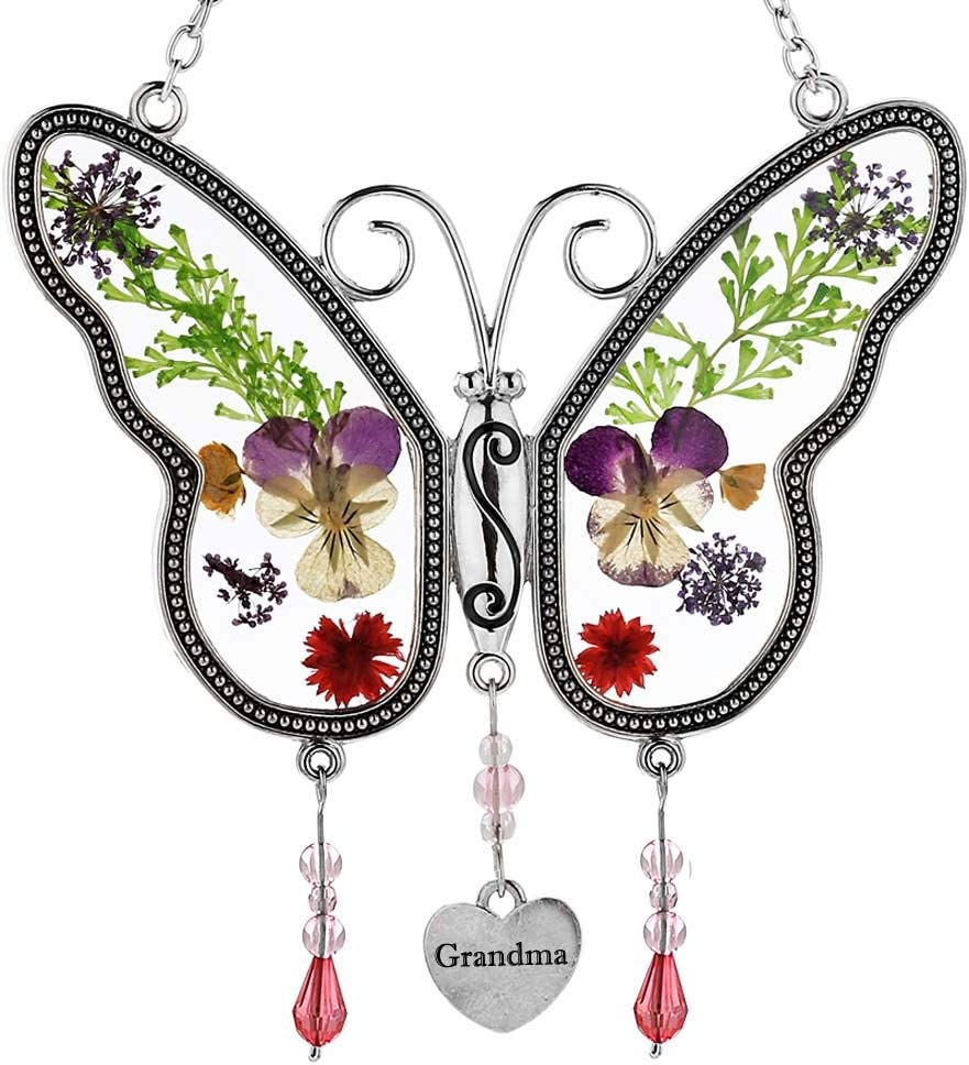 Grandma Butterfly Max 78% OFF Suncatchers Suncatcher Stained Glass outlet