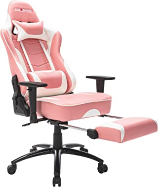 STARSPACE Ergonomic Computer Gaming Chair, Massage Lumbar Support Pullout Footrest Reclining Swivel Base High-Back Racing PC