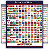 World Flags Educational Poster Laminated Young N Refined (15x20)