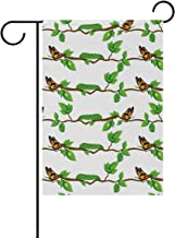 Anyangquji Double Sided Garden Flag Life Cycle of Butterfly Yard Outdoor Decorative