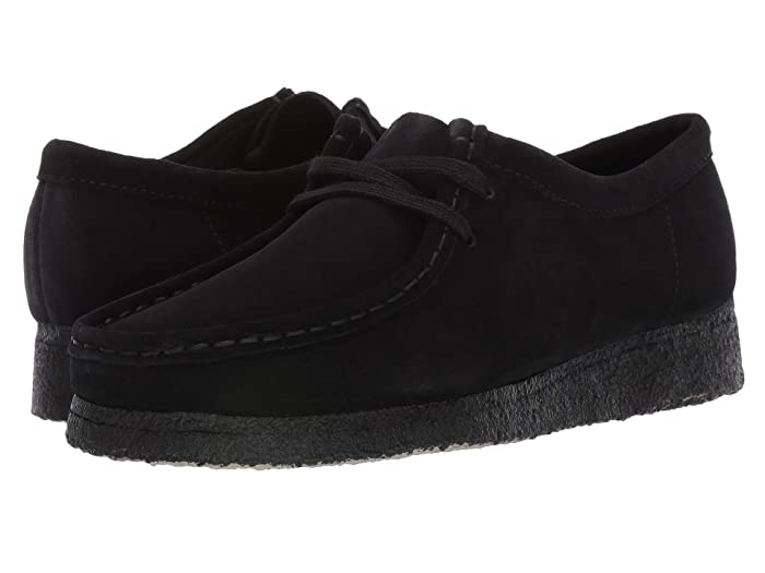 Clarks Wallabee (Black Suede 1) Women's Lace up casual Shoes