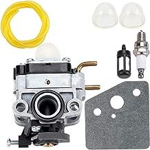 Dxent Carburetor with Fuel Line Filter Spark Plug Parts Kit fit Troy-Bilt TB4BP TBP6160 TB4BPEC Backpack Blower 753-05676A Carb Engine Lawn Blowers Trimmer