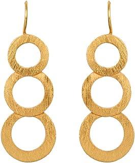 izaara 92.5 Silver Sterling Hallmark Silver-Light Weight Glamourous Earrings for Women(Yellow)