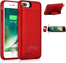 Battery Case for iPhone 8 Plus/7 Plus, JUBOTY 4200mAh Magnetic Slim Charger Case Extend 153% Battery Life Rechargeable Portable Backup Charging Case Compatible with iPhone 8 Plus/7 Plus(Red)