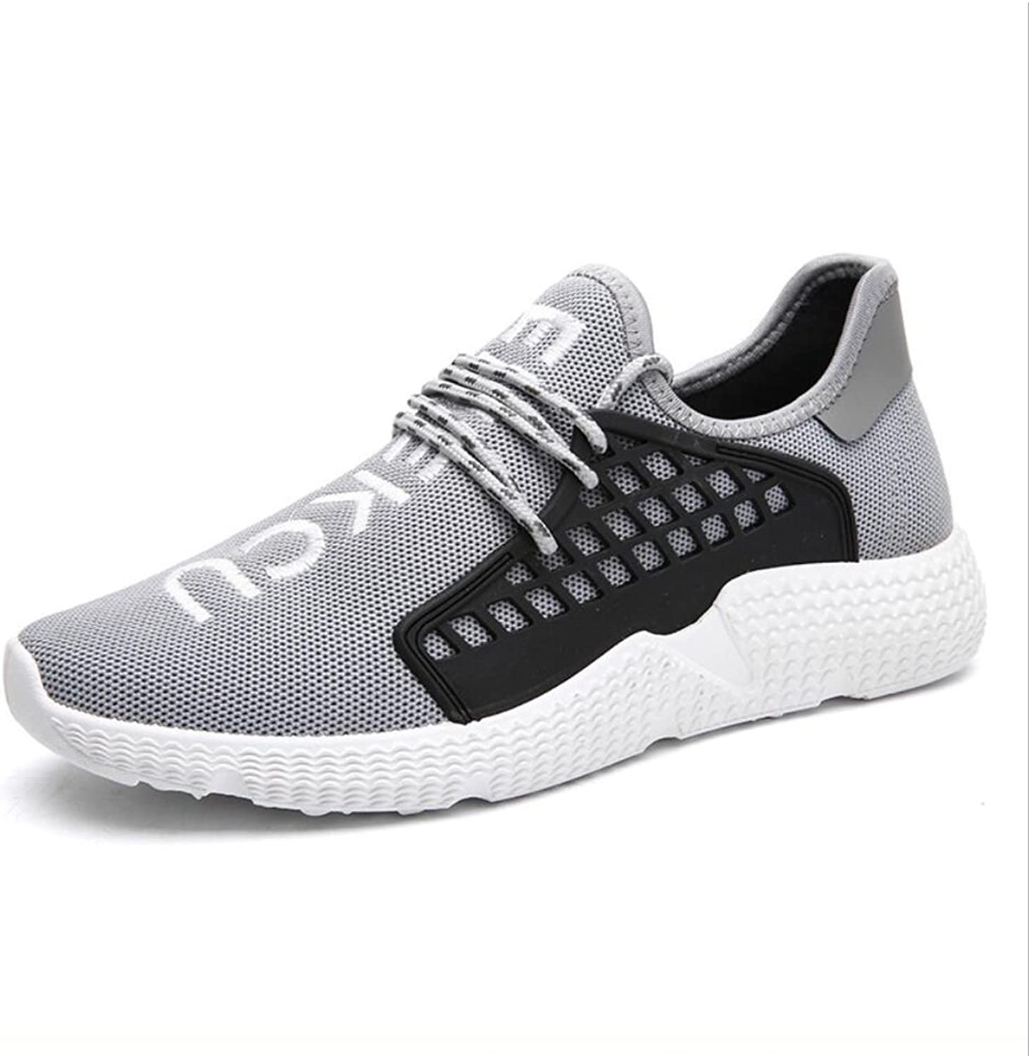 XUE Men's shoes Knit Spring Summer,Casual Athletic shoes,Breathable Running shoes,Lightweight Walking shoes, Light Soles Low-Top Sneakers (color   B, Size   41)