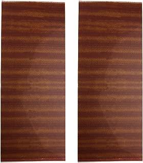 2 Acoustic Guitar Pickguard Scratch Plate Soft Sheets 18x46cm sapele wood Grain PVC