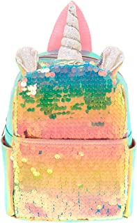 Claire's Girl's Holographic Sequin Unicorn Mini Backpack - Pink
