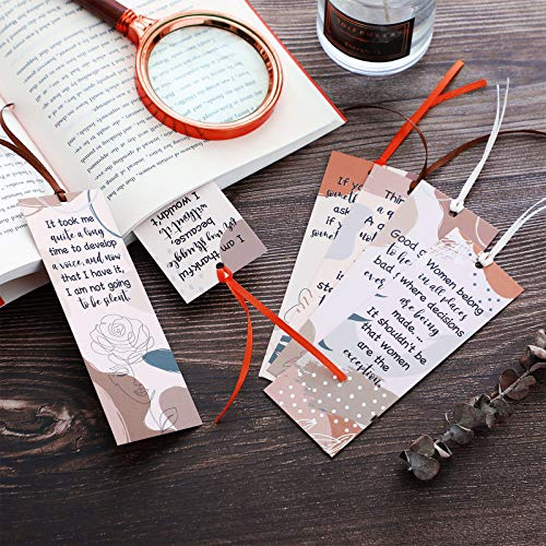 60 Pieces Inspirational Quotes Bookmarks Inspirational Bookmarks for Women Motivational Bookmarks Assorted Page Markers for Book Lovers, Mothers, Grandmothers, Teens and Graduations, 12 Styles Photo #7