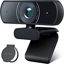 Victure 1080P Webcam Privacy Cover, Dual Stereo Microphones PC Camera, Full HD Video Camera for Computers PC Laptop Deskto...
