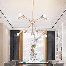 m·kvfa Ten-Light Modern Chandelier Brushed Brass Modern Pendant Lighting Gold Dimmable Mid-Century Sphere Ceiling Fixture Located for Living Room Dining Room Bedroom