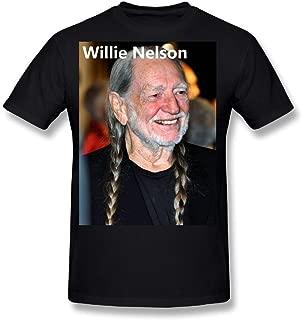 Flesiciate1 Men Willie Nelson Kind Image Design T-Shirt