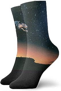 Be-ryl, Space Dinosaurs Calcetines Coloridos de Crazy Crew Calcetines cómodos y novedosos