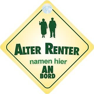 Alter Rentner An Bord Personalisierte Autokennzeichen Oma / Opa Witz / Neuheit Geschenk / Präsentieren / Baby on Board / Autoschild
