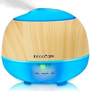 comprar comparacion InnooCare 500ml Humidificador Ultrasónico Aromaterapia Difusor de Aceites Esenciales Difusor de Aroma 7 Colores LED 4 Temp...