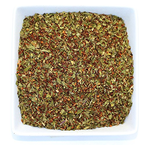 Tealyra - Peppermint Rooibos - Red Bush Herbal Loose Leaf Tea - Caffeine-Free - Calming and Relaxing Tea Blend - All Natural Ingredients - 220g (8-ounce)