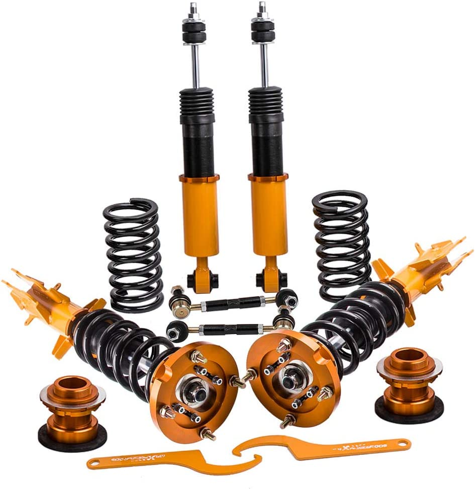 Set of 4 Coilovers Strut Manufacturer regenerated product security for 2005-2014 Adj. Mustang Height Ford