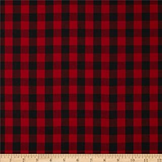 Robert Kaufman Kaufman House of Wales Lawn Plaid Red Fabric By The Yard