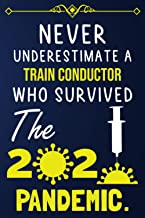 NEVER UNDERSTIMATE A TRAIN CONDUCTOR WHO SURVIVED THE 2020 PANDEMIC.: Lined notebook journal for TRAIN CONDUCTOR |Employee...