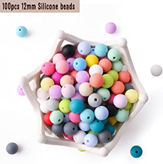 100pc 12mm Silicone Beads Loose Teething Chew Jewelry Teething Bracelet Teether Toy DIY Supplies DIY Jewelry Nursing Necklace