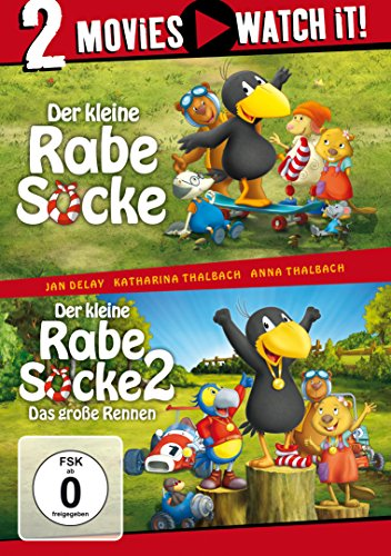 Der kleine Rabe Socke / Der kleine Rabe Socke 2 - Das große Rennen [2 DVDs]