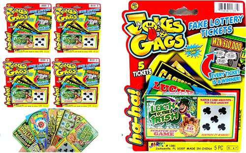 Fake Lottery Ticket Scratch Tickets