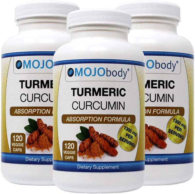 MOJObody 3PK Turmeric Curcumin C3 NEW Formul High 迅速な対応で商品をお届け致します Complex Absorption