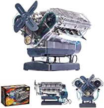 FXQIN DIY Engine Model Kit for Adults Kids, Mechanic Internal Combustion Assembly Construction, Build Your Own Internal Co...