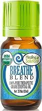 Organic Breathe Essential Oil (100% Pure - USDA Certified Organic) Best Therapeutic Grade Essential Oil - 10ml