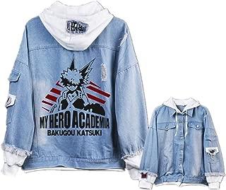 GO2COSY Anime My Hero Academia Cosplay Boku no Hero Academia Jacket Sweatshirt Denim Fleeces Costume Hoodie