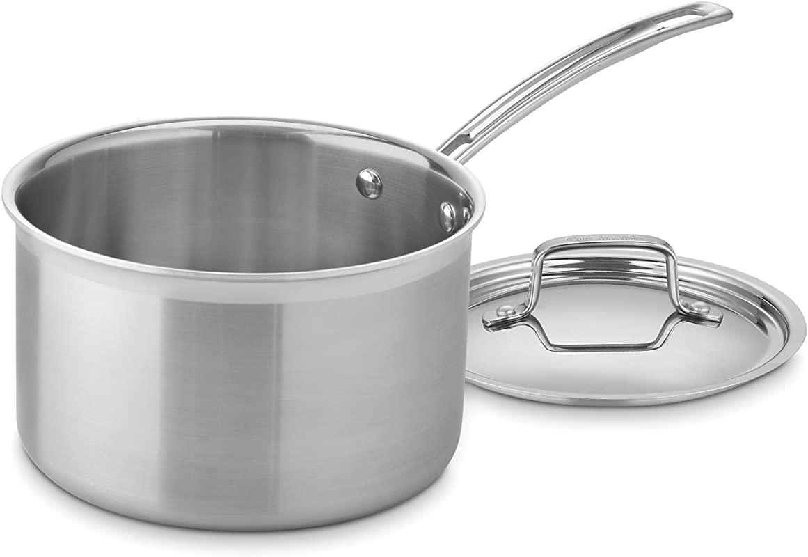 Cuisinart MCP194 20N MultiClad Pro Stainless Steel 4 Quart Saucepan With Cover