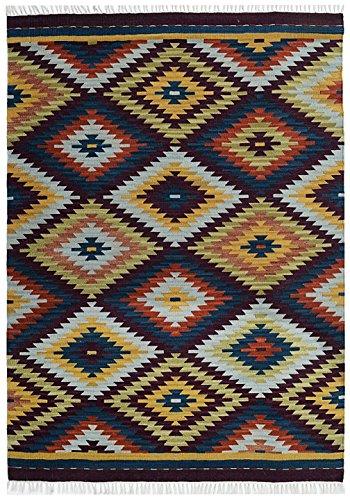 Bakero Teppich Kilim Classic KL-179, Wolle, Bunt, 230 x 170 x 0,80 cm