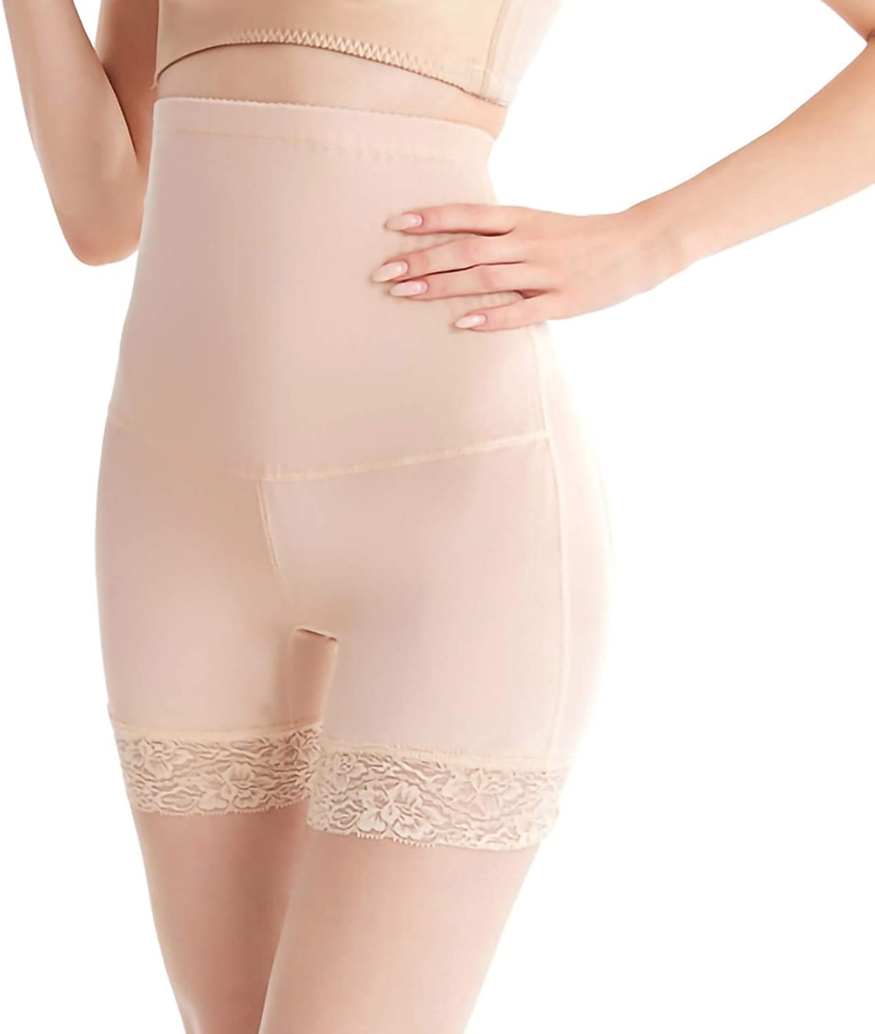 xoxing 1PC Women High Waisted Breech Buttock Raising Shaping Panties Breathable Plus Size Sexy Underpants(D)