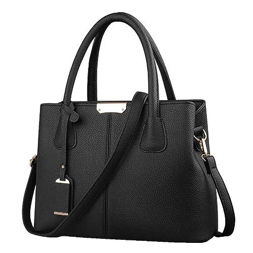 e574069067d4 B E Life Stylish Women Pu Leather Vertical Utility Top Handle Handbag  Satchel Tote Purse Bag