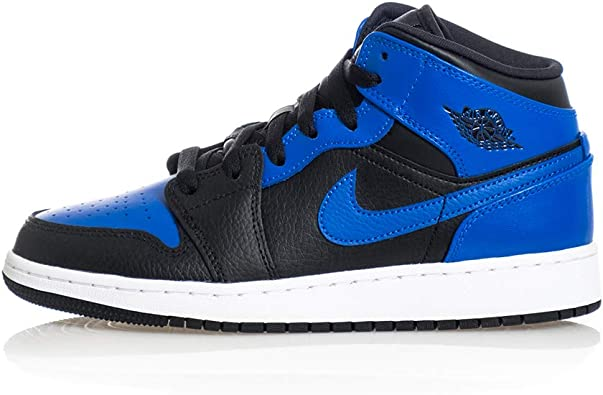 Nike Air Jordan 1 Mid (GS), Chaussure de Basketball Homme
