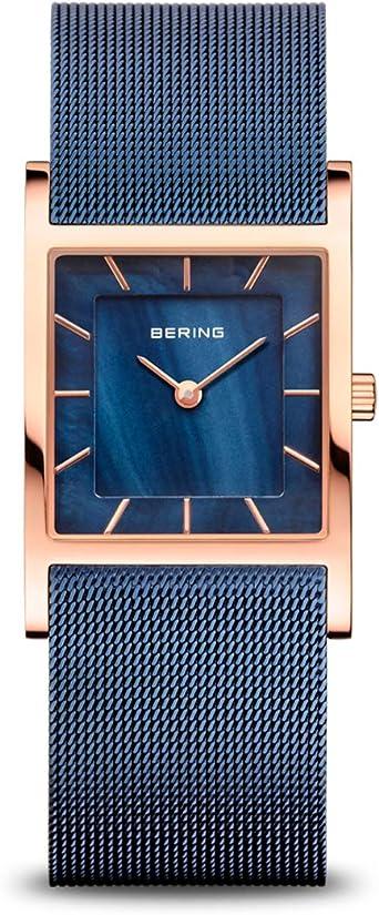 BERING Reloj Analógico Classic Collection para Mujer de Cuarzo con Correa en Acero Inoxidable y Cristal de Zafiro 10426-367-S