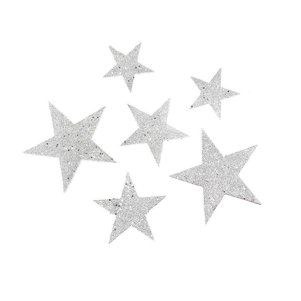 Homeford FKT000000FX15611 Christmas Styrofoam Stars Cut Out Glitter Silver, 2