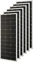 Richsolar 6pcs 100 Watt 12 Volt Monocrystalline Solar Panel with MC4 Connectors 12 Volt Battery Charging RV, Boat, Off Grid